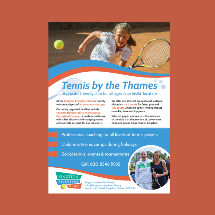 Graphic design for advertising a tennis club