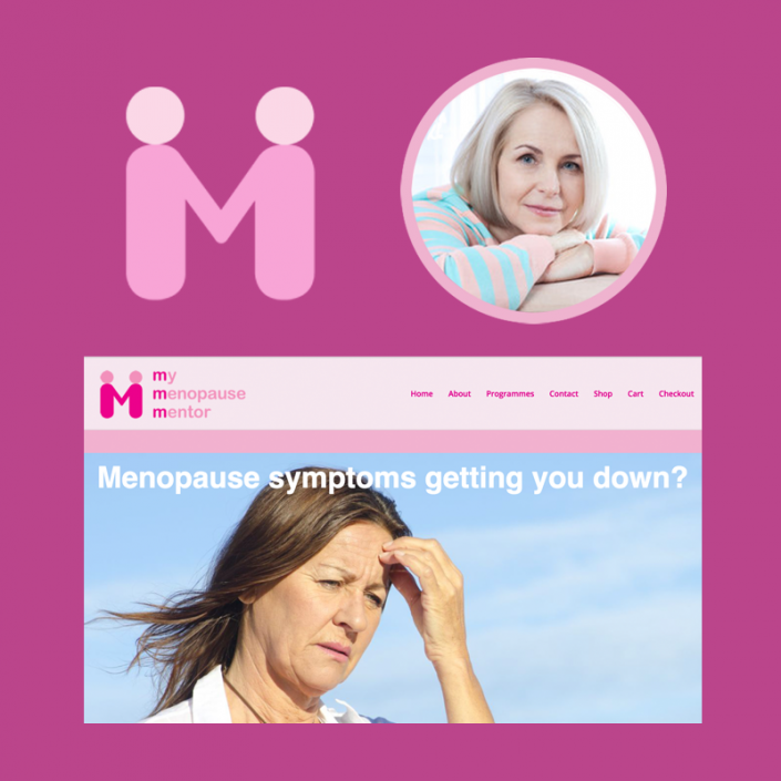 Branding, website and advertising material for natural menopause solutions company
